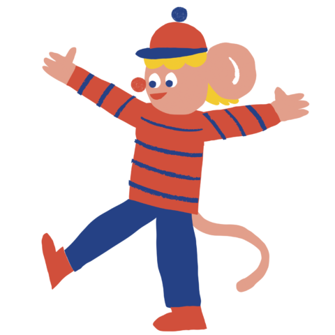 piirretty iloinen apina