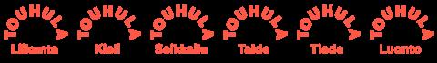 touhulan kaikkien teemojen logot