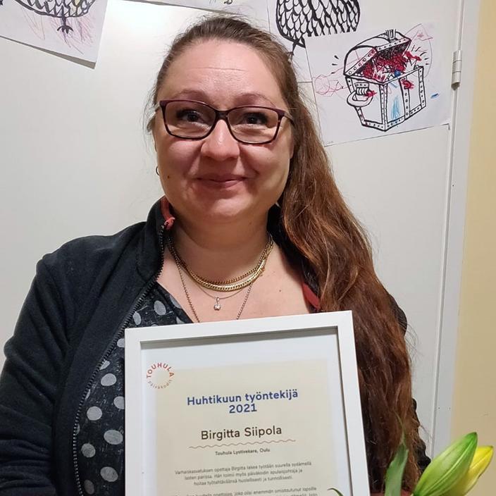 Birgitta Siipola työskentelee varhaiskasvatuksen opettajana Touhula LystiVekarassa, Oulussa.
