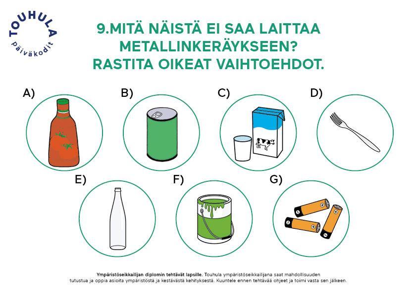 Kierrätys on tärkeä osa ympäristökasvatusta.